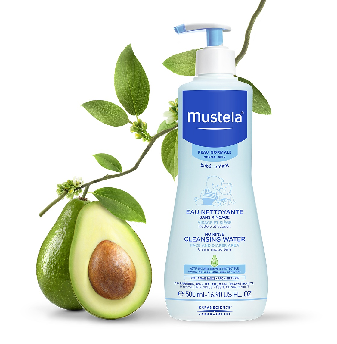 Mustela No-Rinse Cleansing Water (Or Physiobébé)