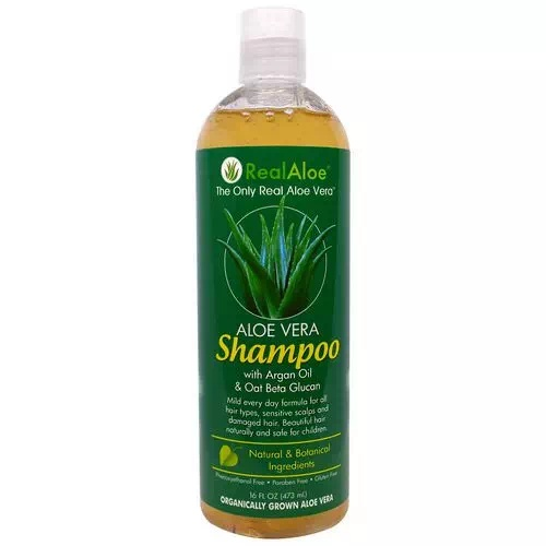 Real Aloe Aloe Vera Shampoo With Argan Oil & Oat Beta Glucan