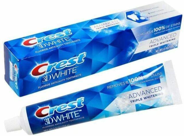 Crest 3D White Advanced Triple Whitening Toothpaste