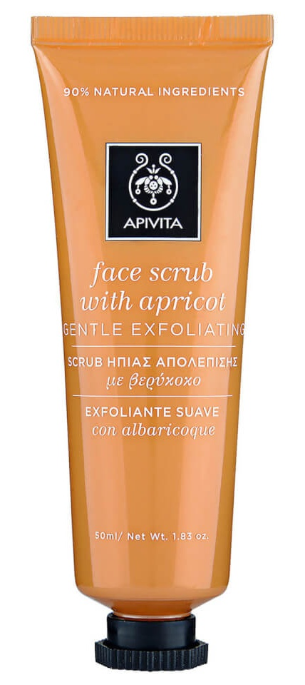 Apivita Face Scrub For Gentle Exfoliation With Apricot
