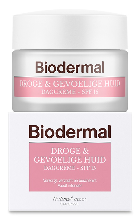 Biodermal Droge en gevoelige huid dagcreme SPF 15