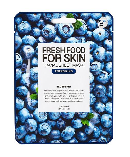 Farm Skin Fresh Food For Skin Facial Sheet Mask Blueberry: Energizing
