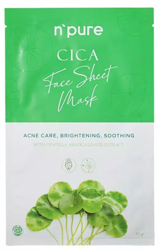 n'pure Cica Face Sheet Mask