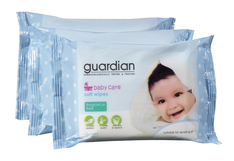 Guardian Baby Care Soft Wipes (Fragrance Free)