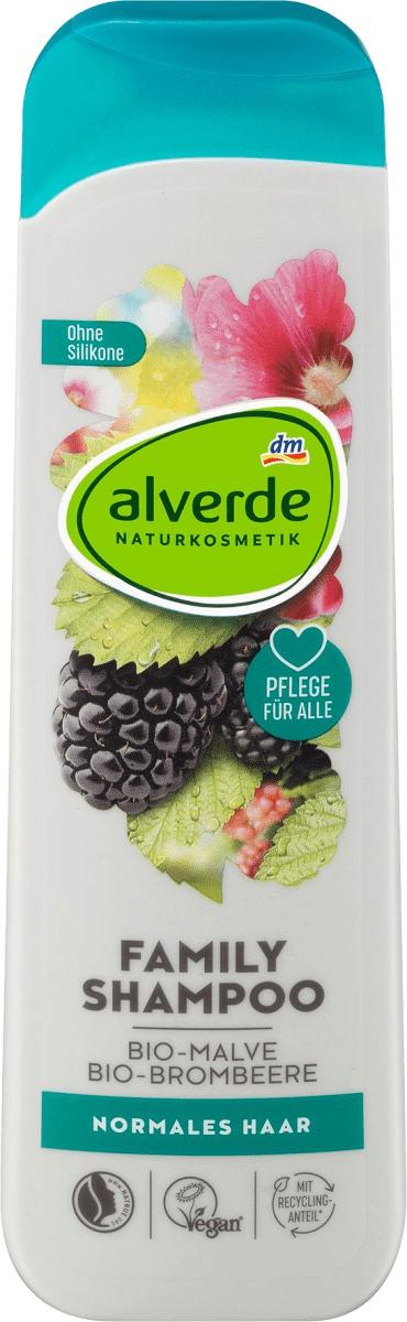 Alverde Naturkosmetik Family Shampoo Malve Brombeere