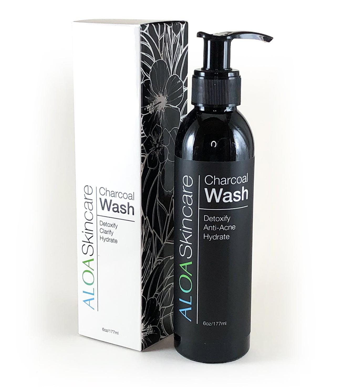 Aloa Skincare Activated Charcoal Face Wash With Green Tea & Vitamin C