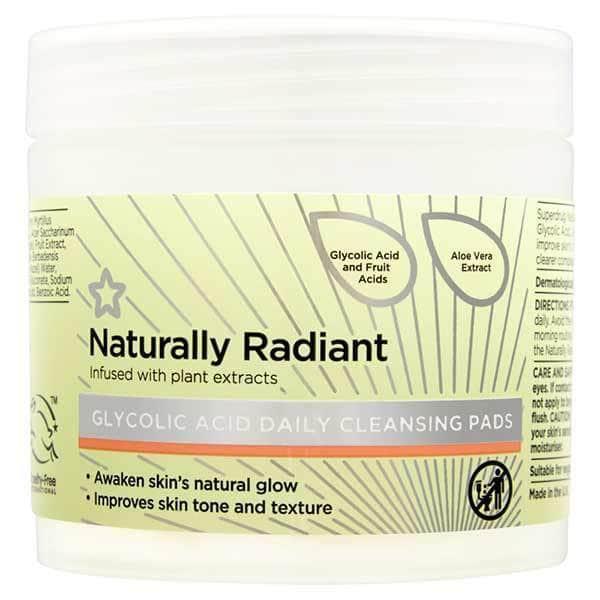Superdrug Naturally Radiant Glycolic Acid Pads