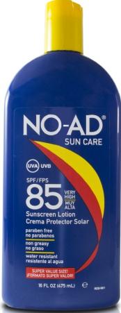 No Ad Sun Care 85 SPF