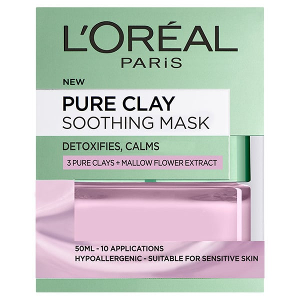 L'Oreal Paris Pure Clay | Soothing Mask | Mallow Flower Extract