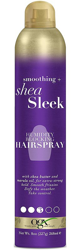 OGX Smoothing + Shea Sleek Humidity Blocking Hairspray