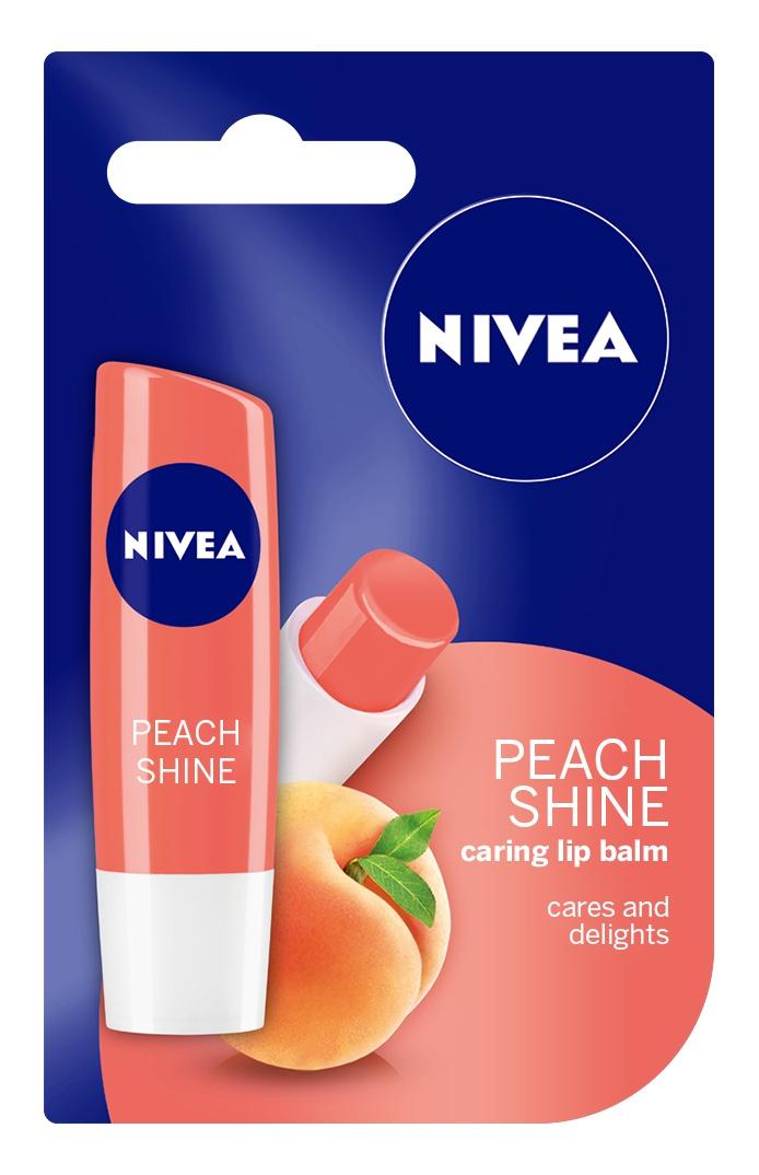 Nivea Peach Shine Flavored Lip Balm