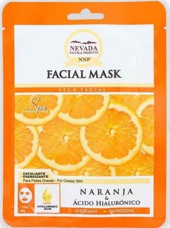 Nevada Natural Products Facial Mask Orange & Hyaluronic Acid