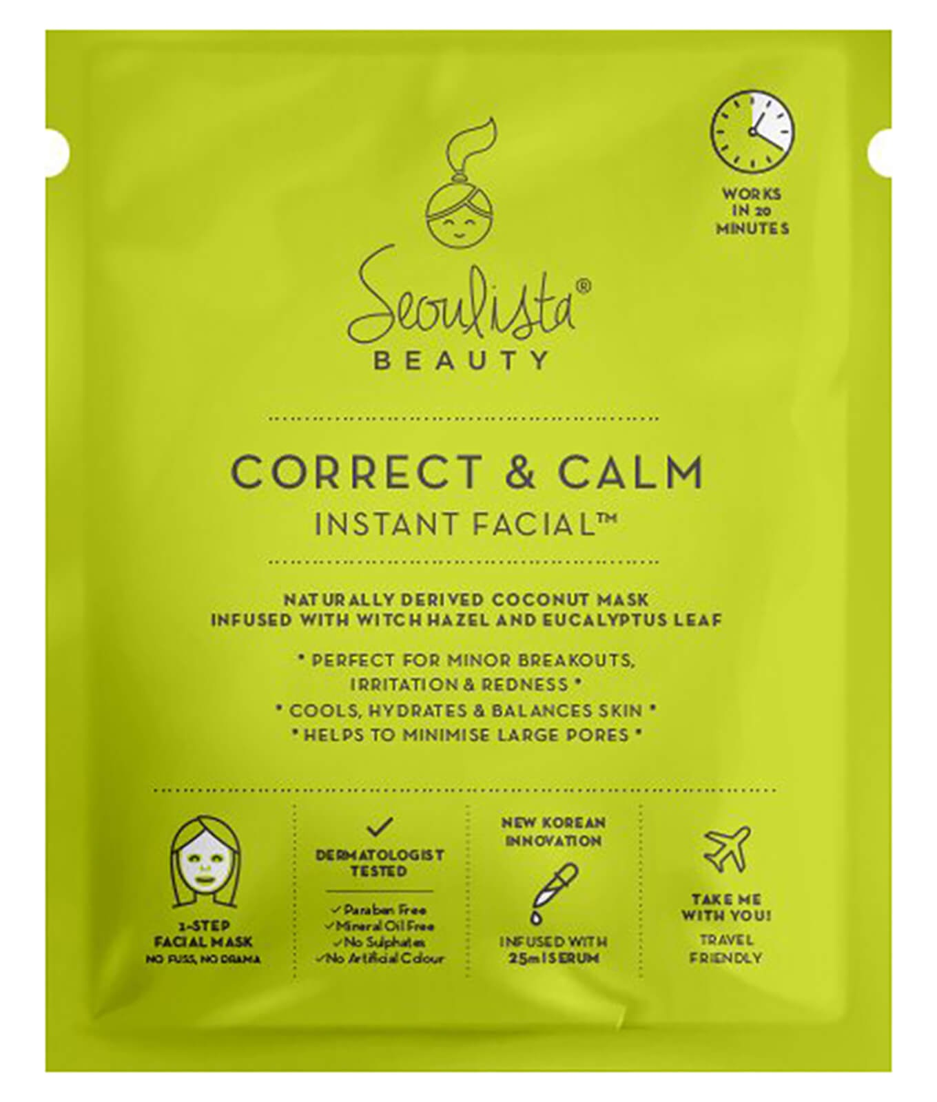 Seoulista Beauty Correct And Calm Instant Facial