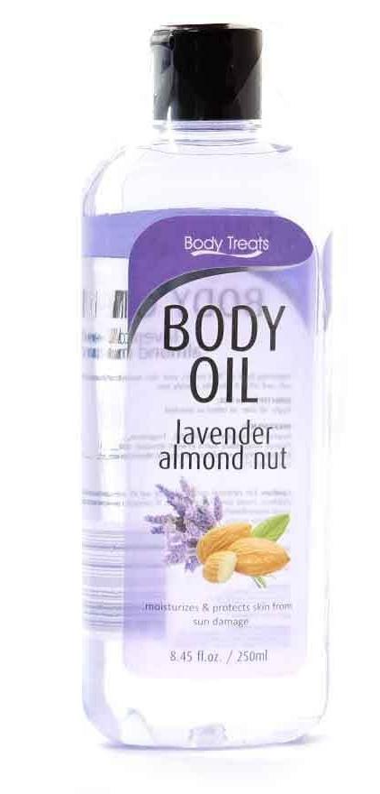 BODY TREATS Body Oil Lavender Almond Nut
