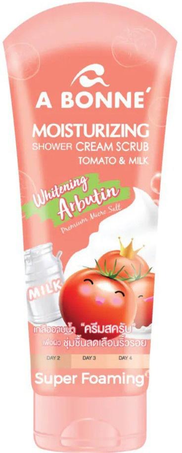 A BONNÉ Moisturizing Shower Cream Scrap Tomato And Milk