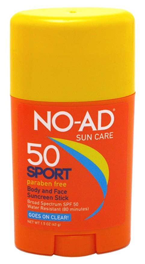 No Ad Sport Sun Care Body and Face Stick SPF