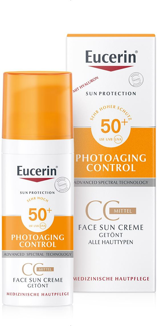 Eucerin Photoaging Control Face Sun Cc Creme Tinted 50+