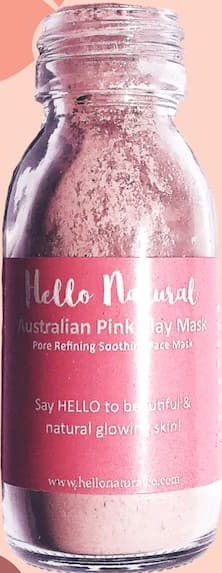 Hello Natural Co Australian Pink Clay Mask