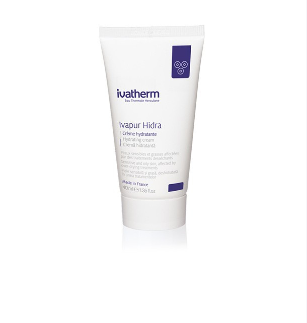 ivatherm Eau Thermale Herculane Ivapur Hidra Hydrating Cream Sensitive And Oily Skin, Affected By Over-Drying Treatments