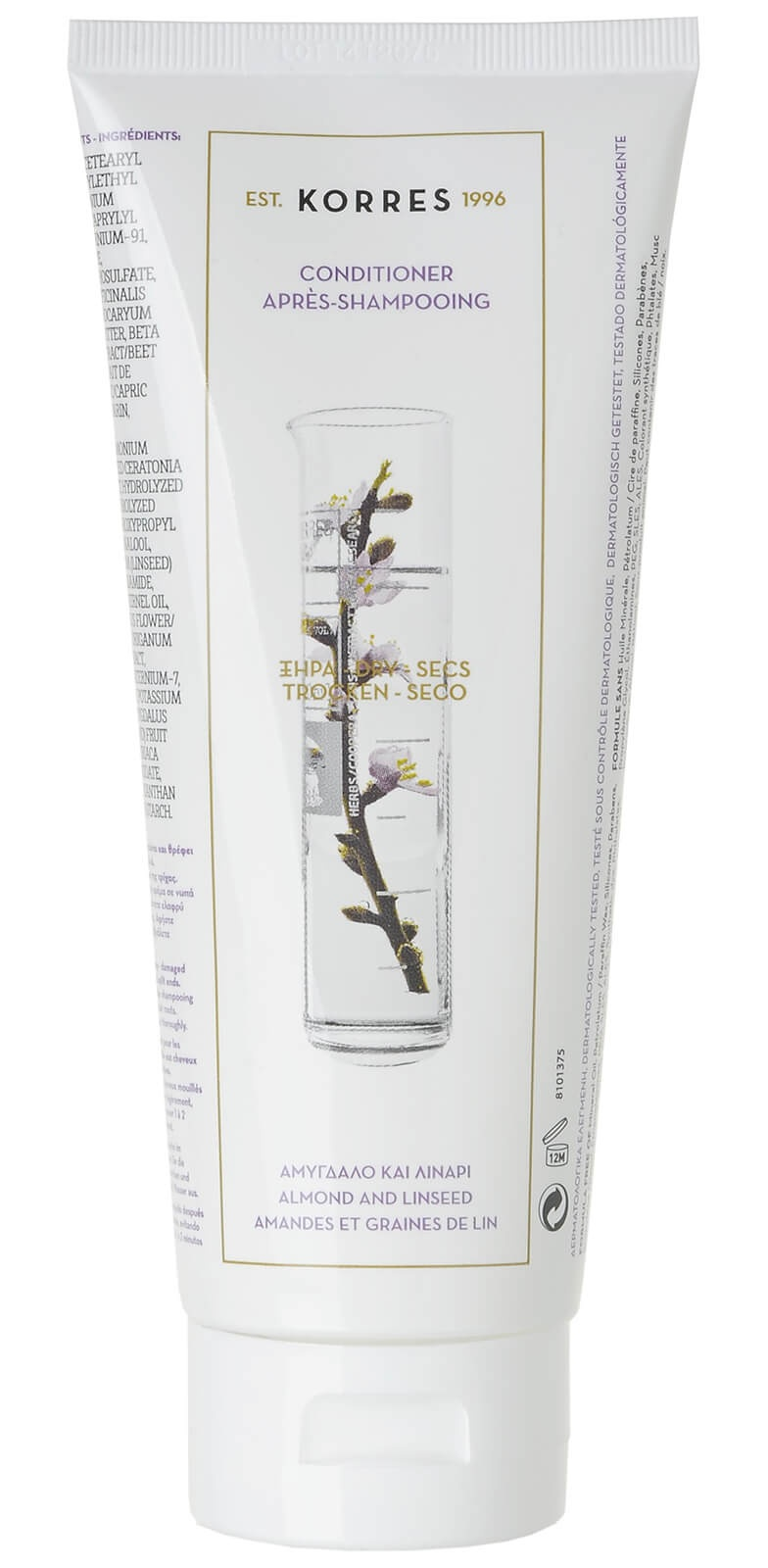 Korres Conditioner Almond & Linseed For Dry/Damaged Hair