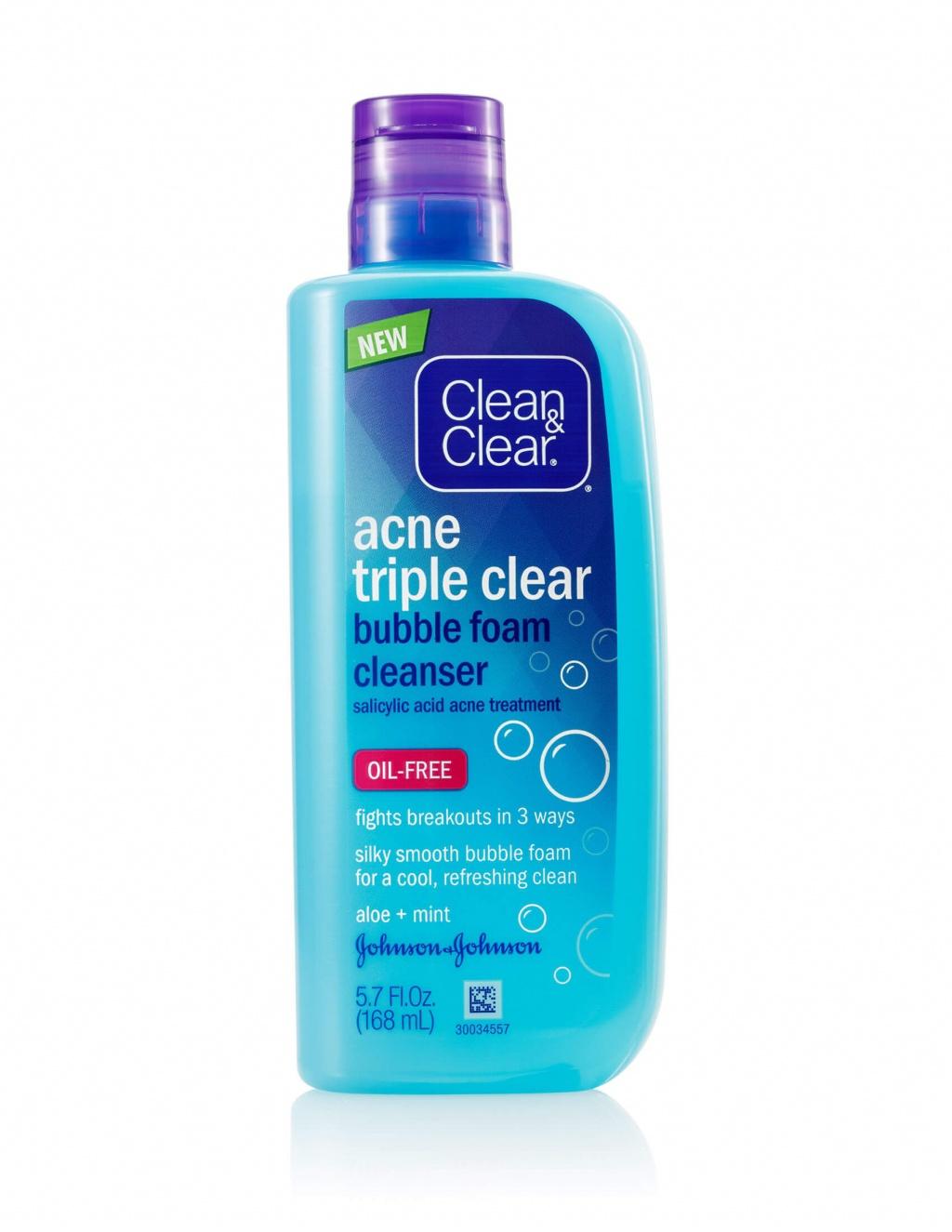 Clean & Clear Acne Triple Clear™ Bubble Foam Cleanser