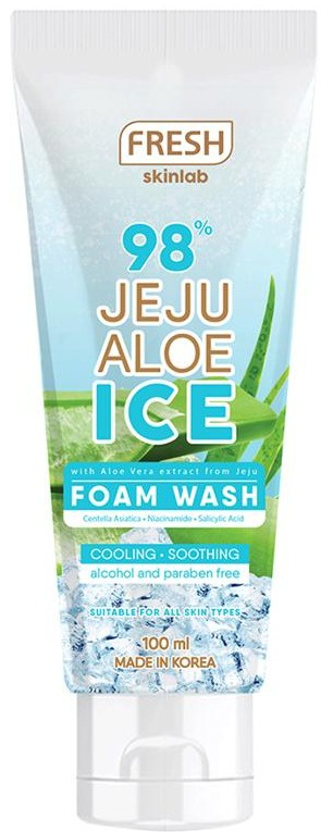 Fresh Skinlab Jeju Aloe Ice Foam Wash