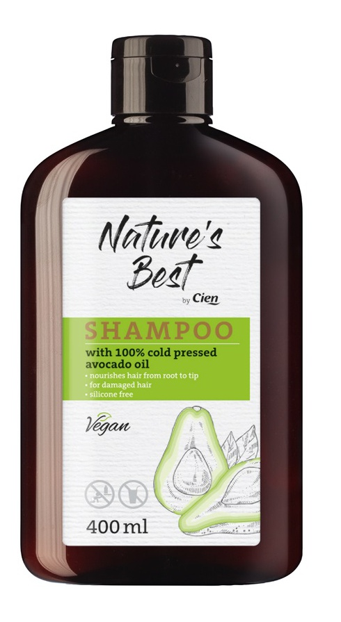 Cien Nature's Best Shampoo With 100% Cold Pressed Avocado Oil