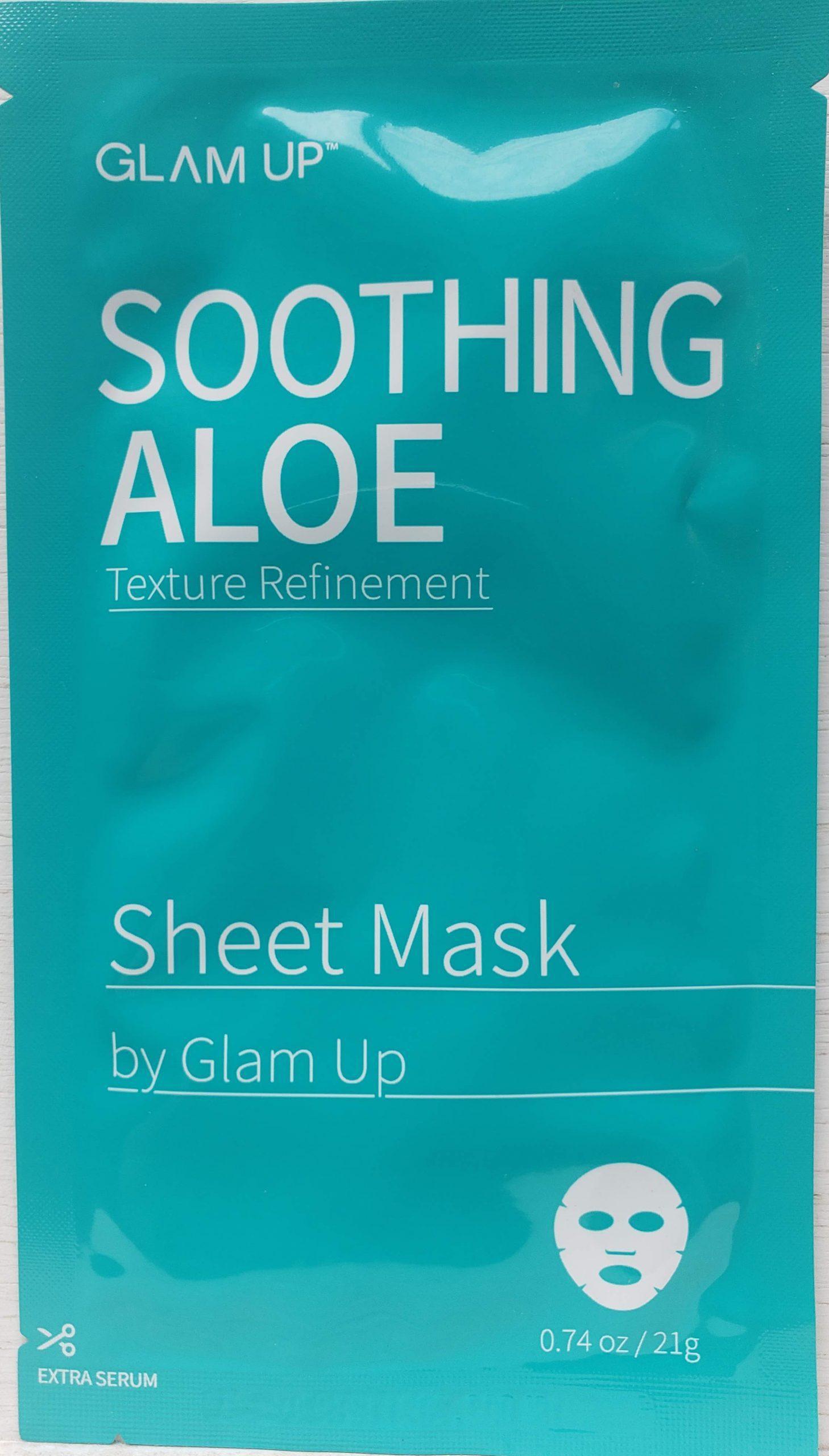 GLAM UP Soothing Aloe Sheet Mask