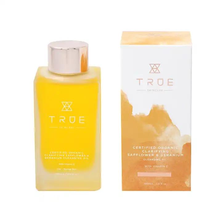 True Skincare Organic Clarifying Safflower & Geranium Cleansing Oil