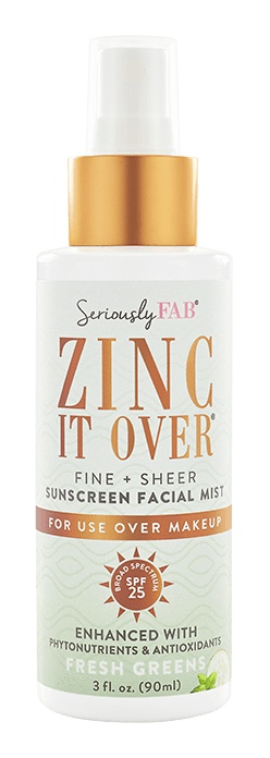 Seriously Fab Zinc It Over Sunscreen Facial Mist - Unscented