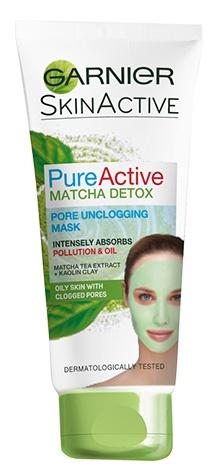 Garnier Pure Active Matcha Detox Pore Unclogging Face Mask