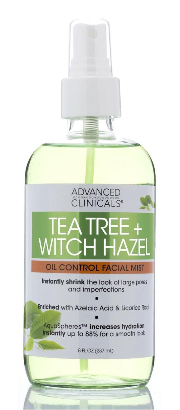Advanced Clinicals Tea Tree + Witch Hazel, Oil Control Facial Mist
