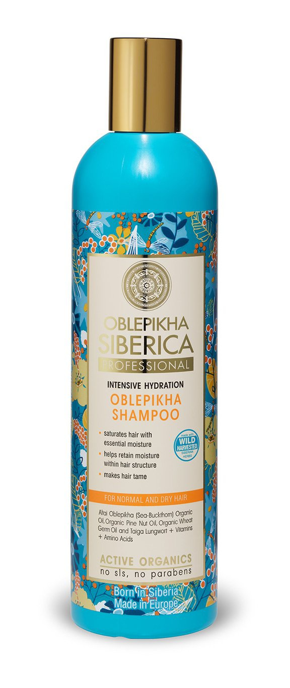 Natura Siberica Shampoo With Organic Oblepikha Hydrolate For Normal And Dry Hair