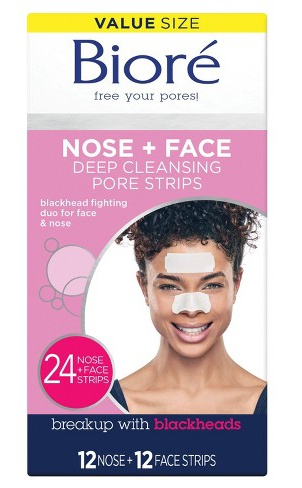 Biore Nose+Face, Deep Cleansing Pore Strips