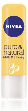 Nivea Pure And Natural Milk And Honey Lip Balm