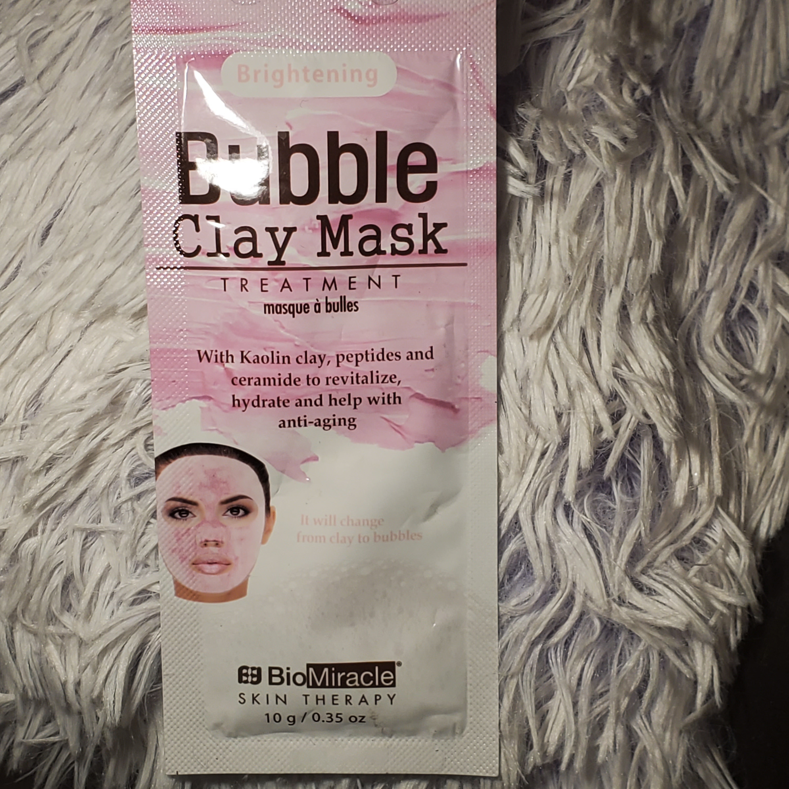 BioMiracle Skin Therapy Brightening Bubble Clay Mask Treatment