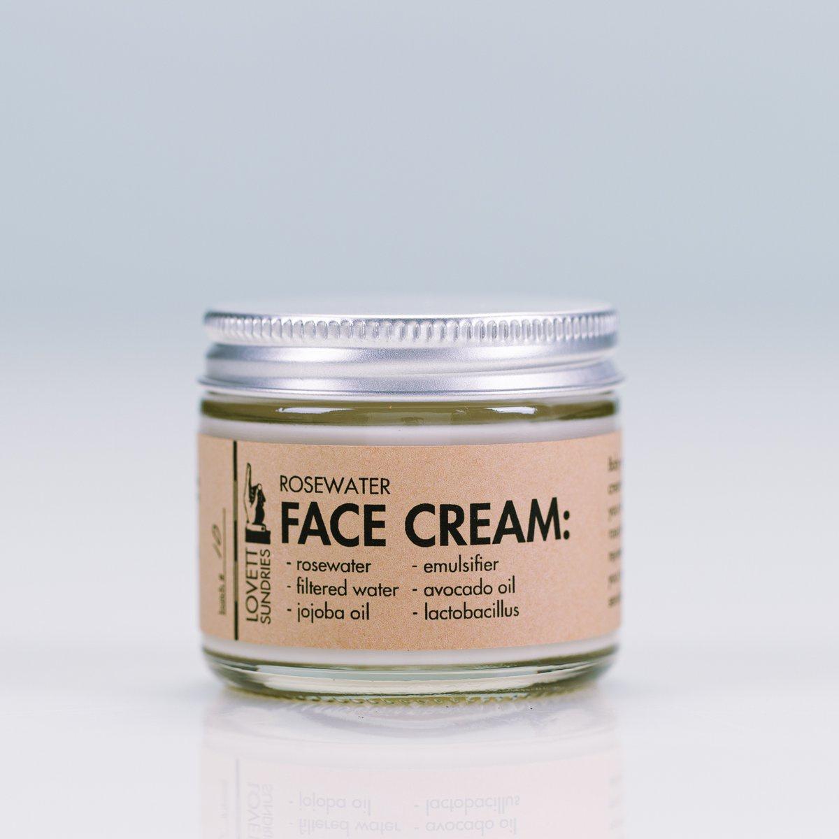Lovett Sundries Rosewater Face Cream