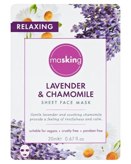 masking Lavender And Chamomile Sheet Mask