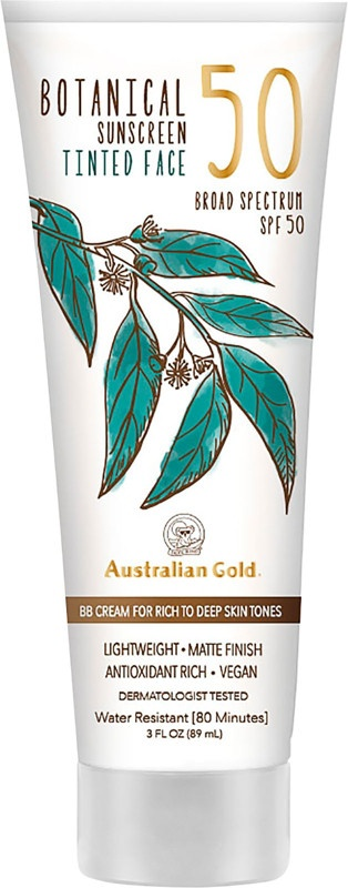 Australian Gold Botanical Sunscreen Face Tinted Spf 50