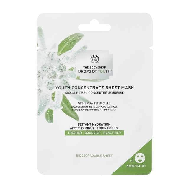 Body Shop Drops Of Youth Concentrate Sheet Mask