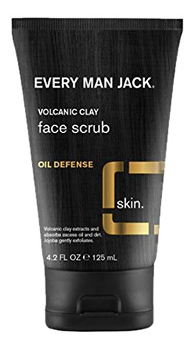 Every Man Jack Volcanic Clay Face Scrub Oil Defense