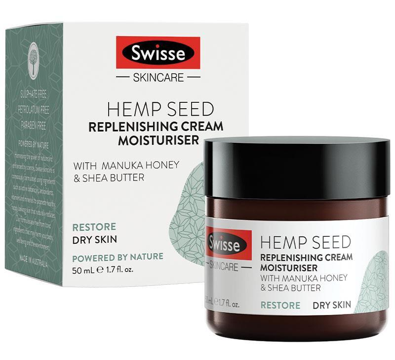 Swisse Skincare Hemp Seed Replenishing Cream Moisturiser