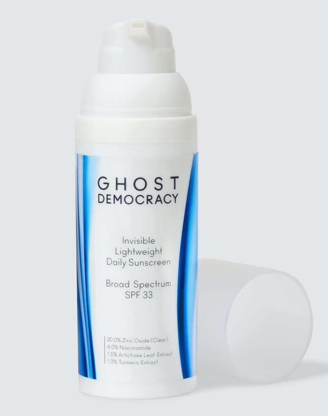 Ghost Democracy Invisible Lightweight Daily Face Sunscreen Spf33