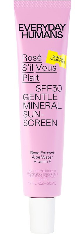 Everyday Humans Rose Sil Vous Plait Spf 30 Gentle Mineral Sunscreen