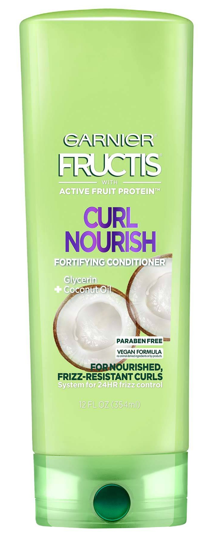 Garnier Fructis Curl Nourish Paraben-Free Conditioner Infused With Coconut Oil And Glycerin