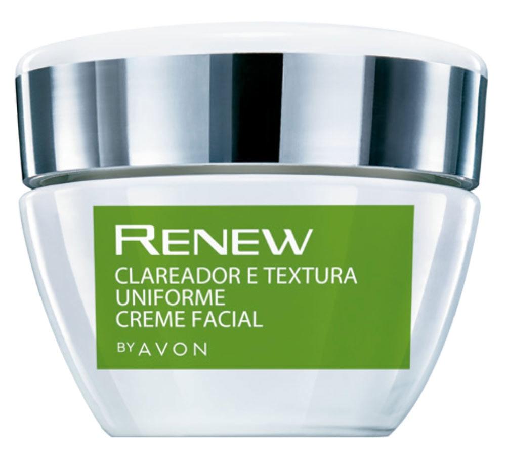 Avon Creme Facial Renew Clareador E Textura Uniforme