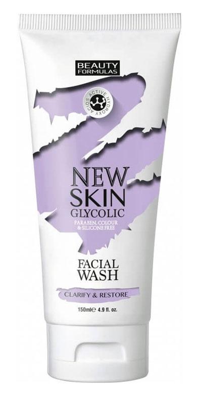 Beauty Formulas New Skin Glycolic Facial Wash