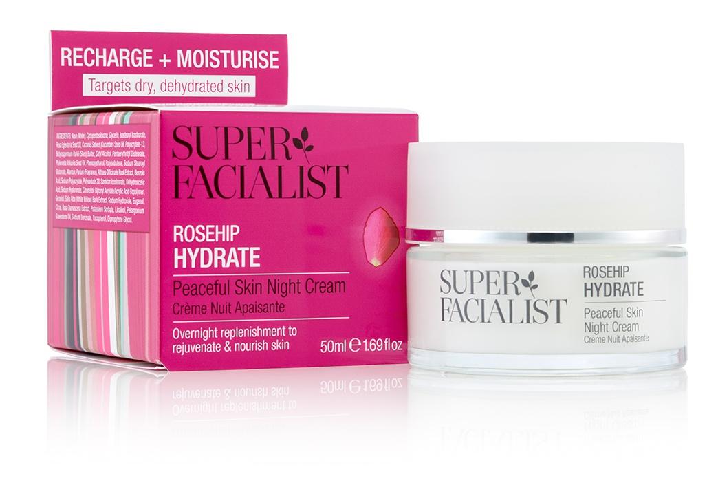 Super Facialist Rosehip Hydrate - Peaceful Skin Night Cream