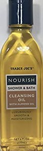 Trader Joe's Nourish Shower And Bath Cleansing Oil