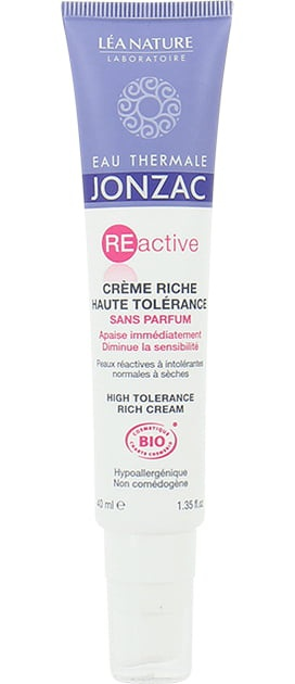 Eau Thermale Jonzac Reactive High Tolerance Fragrance Free Rich Cream
